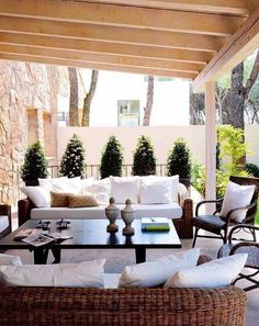 Cute covered patio looks like a nice place to hang out. #patios #outdoorliving homechanneltv.com