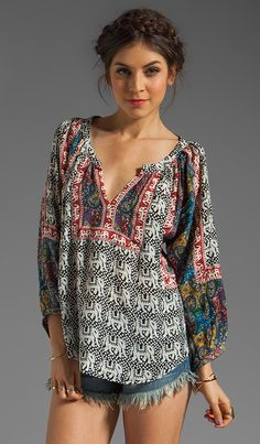 Tolani Ruby Blouse in Elephants | REVOLVE