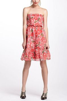 Watercolor Poppies Dress #anthropologie