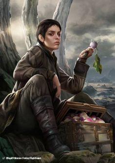 Asha Greyjoy - illustrated by Magali Villeneuve