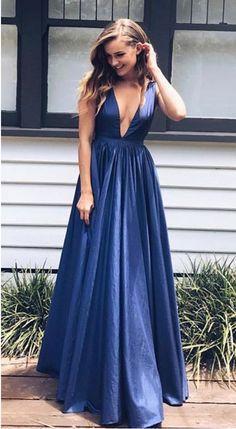 Elegant A-Line V-Neck Prom Dresses,Long Prom Dresses,Cheap Prom Dresses, Evening Dress Prom Gowns, Formal Women Dress,Prom Dress,C489