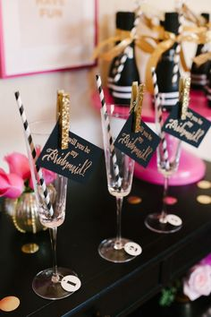 black , gold and pink wedding table setting
