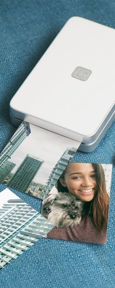 Print brilliant, life-like photos without ink. This pocket-sized printer activates colored crystals inside the paper, letting you print pics.