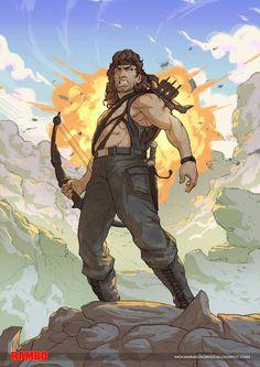 Rambo by mohammedAgbadi on DeviantArt Rambo 3, John Rambo, Mortal Kombat, Comic Books Art, Comic Art, Book Art, Pulp Fiction Characters, Rocky Balboa Poster, Silvester Stallone