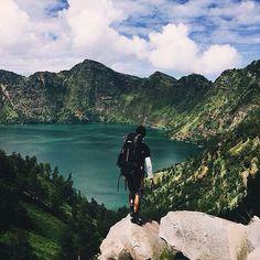 Gunung Rinjani, Lombok, Nusa Tenggara Barat, Indonesia