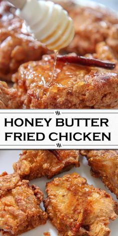 Recipes Snacks Quick Juicy and crispy honey butter fried chicken seasoned and cooked to perfection! The ultimate fried chicken recipe. Ultimate Fried Chicken Recipe, Easy Chicken Dinner Recipes, Fried Chicken Recipes, Honey Fried Chicken, Honey Butter Chicken, Wine Recipes, Great Recipes, Snack Recipes, Cooking Recipes