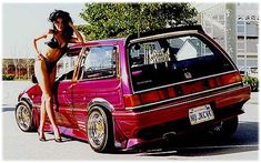 Northern Exposure - 1986 Honda Civic - Full Custom Lowrider Euro - More OG pics Honda Civic Hatchback, Honda Crx, Honda Civic Si, Nissan Gtr Skyline, Skyline Gt, Japanese Cars, Small Cars, Jdm Cars, Car Girls