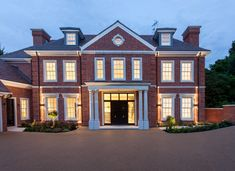 With grand proportions, this traditional English country home design for Q Developments is set within London's prestigious Coombe Estate. Country House Design, Modern House Design, House Plans Uk, Millionaire Homes, Residential Architect, Fancy Houses, English House, Dream House Exterior, House Layouts