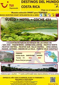 #Oferta #vuelo + #hotel + #coche4x4 en #costarica