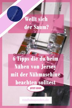 Jersey nähen mit der Nähmaschine You want to sew a jersey project and do not have an overlock? Here are 6 tips on how to sew jersey and other stretchy material with the sewing machine. Sewing Hacks, Sewing Tutorials, Sewing Tips, Fat Quarter Projects, Presents For Friends, Leftover Fabric, Gifts For Your Mom, Love Sewing, Sewing Projects For Beginners