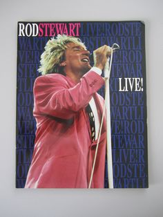 Rod Stewart Live! Tour Concert Program 1989 by TheVinylGarage on Etsy
