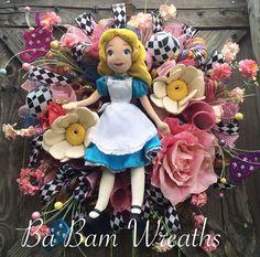 Alice au pays des merveilles fantaisie par BaBamWreaths sur Etsy