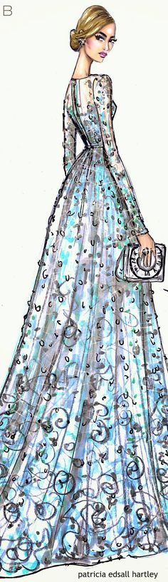 Lily James wearing Elie Saab to Cinderella Premiere by Hayden Williams