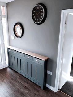 Radiator Shelf, Painted Radiator, Shoe Storage Radiator Cover, Radiator Covers Ikea, Radiator Ideas, Bedroom Radiators, Home Radiators, Victorian Terrace Hallway, Architrave Door