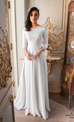 Modest wedding gowns 2017 orit (2) - #Gowns #Modest #orit #Wedding