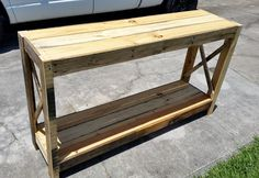 Wood Pallet Entryway Table - DIY   101 Pallets