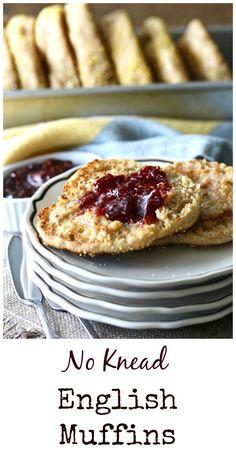 No Knead English Muffins