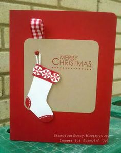 #stampinup #stocking #cards #handmade #Christmas #stamping