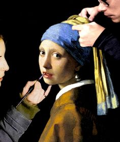 Girl with a Pearl Earring (making off) #art   #photography