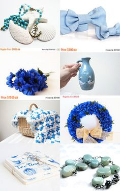 ♥♥♥ Stop and Buy ♥♥♥ Blue!!! by Neringa on Etsy--Pinned with TreasuryPin.com