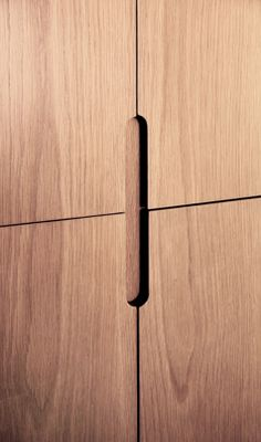 Detail Fingertip design kitchen door handles