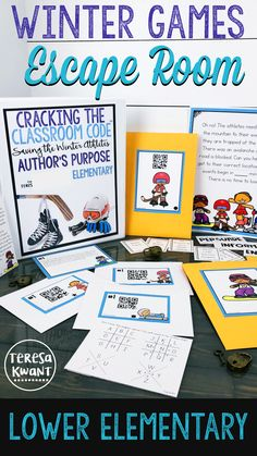 This escape room is perfect to use during the Winter Olympics! Students will practice their reading skills, while having fun. The focus of this game is author's purpose, with a winter sports theme. Your lower elementary students are sure to have a blast with this Winter Games escape room!