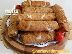 Sucuklu Çıtır Börek Turkish Kitchen, Turkish Cuisine, Turkish Sweets, Fish And Meat, Turkish Recipes, Italian Recipes, Fresh Fruits And Vegetables, Seafood Dishes, Baked Goods