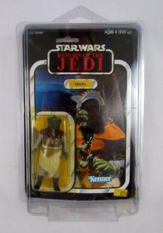 Vtg 1983 Star Wars Kenner KLAATU MOC ROTJ 65 Card Back Offerless Figure Clear BB #Kenner