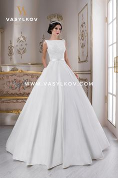 Buy wedding dresses on wholesale from the manufacturer Vasylkov - means to receive the high-quality and stylish models of wedding dresses for different clients of the wedding salon. Wedding Dress Backs, Modest Wedding Gowns, Wedding Dress With Veil, Gorgeous Wedding Dress, Princess Wedding Dresses, Wedding Dress Sleeves, Modest Wedding Dresses, Bridal Gowns, Bridesmaid Dresses