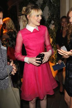 Emma Stone in Valentino at Elle's Women in Hollywood Party