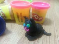 A black kitty from playdough!!!