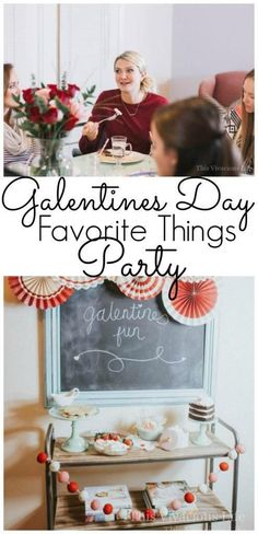 This Galentines day favorite things party is full of festive Valentines day fun! This Galentines day favorite things party is full of festive Valentines day fun! It's the perfect day party ideas for adults Valentinstag Party, Valentines Day Decorations, Valentines Day Party, Valentine Ideas, Valentine Crafts, Games For Ladies, Ladies Ideas, Party Favors For Adults, Favorite Things Party