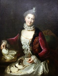 Figuration Feminine: Portrait of a Woman, 1761, by de Gasc, Anna Rosina (1713-1783)