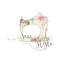 Business Logo Clothing Logo Sewing Logo Premade by TheBlushingElm