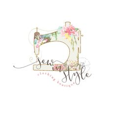 Business Logo Clothing Logo Sewing Logo Premade by TheBlushingElm