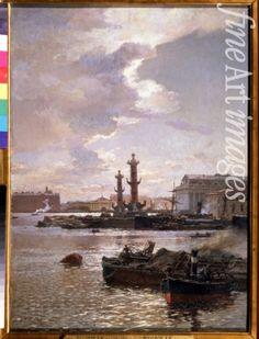 "Beggrov Alexander Karlovich - ""The Stock market in St. Petersburg"", 1891"