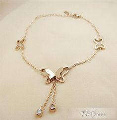 Elegant Butterfly Bracelet/Ankle Chain