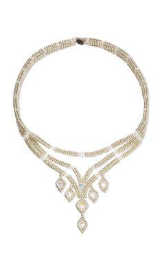 Soiree Choker by Designer Artist Mandi Olaniyi. Fire Mountain Gems and Beads' Contest 2016 featuring Seed Beads - Finalist. #bridaljewelry