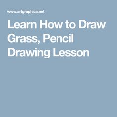 Learn How to Draw Grass, Pencil Drawing Lesson