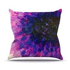 KESS InHouse JD1036AOP03 18 x 18-Inch 'Ebi Emporium Limitless Pink Purple' Outdoor Throw Cushion - Multi-Colour >>> For more information, visit image link. #GardenFurnitureandAccessories
