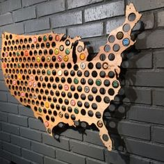 Beer Cap Maps are great looking laser-cut maps of the best brewing states in the US. Each map is filled with plenty of holes for your favorite caps along with a spot marking the state capitol location. Fill them with all of your best caps or just ones from breweries that reside in that state! #decor