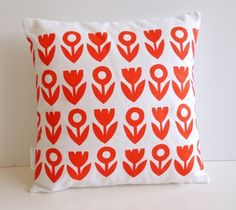 Screen Printed Tulip Cushion