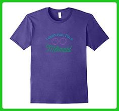 Mens I can't run I'm a Mermaid funny shirt runner gift workout 3XL Purple - Workout shirts (*Amazon Partner-Link)