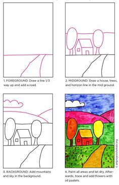 Elements of Art: Space in a Landscape · Art Projects for Kids
