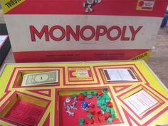 #Bilingual South African #Monopoly vintage game set, written in English and Afrikaan. Unlikely to ever see another one! www.Connectibles.net