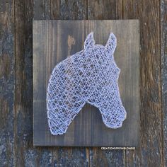 Horse String Art Sign MADE TO ORDER by CreationsFromBlondie