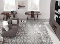 Merola Tile Arte Grey Encaustic in. Porcelain Floor and Wall Tile sq. / - The Home Depot Ceramic Wall Tiles, Porcelain Tile, Porcelain Ceramics, Fine Porcelain, Motif Art Deco, Tile Stores, Grey Tiles, Tiles Uk, Tile Installation