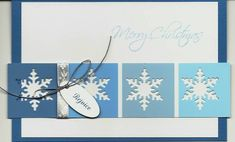 Snowflake paintchip card by cards4joy - Cards and Paper Crafts at Splitcoaststampers