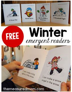 Looking for free winter emergent readers? You'll love this set of four colorful books!