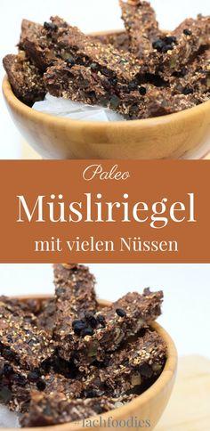 Paleo Muesliriegel Nussriegel ohne Kohlenhydrate Low Carb Glutenfrei Laktosefrei rezept